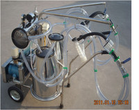 Solpack FOR GOAT Stainless steel double bucket milking machine