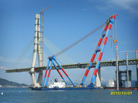 1200TON PONTOON CRANE BARGE FOR SALE(SDM-FC-164)