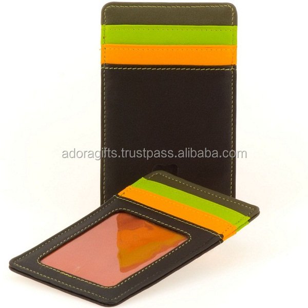 PU leather multiple business card holders / business card case holder / leather credit card case wholesale