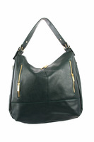 Women Faux Leather Hobo Bags with Side Zippers