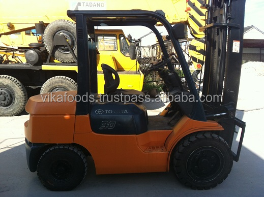 low price high quality forklift price 3 ton used toyota forklift price lpg with Japanese engine for sale