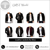 Leather Jackets for Men with Fixed Polyester Mesh Lining Design