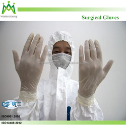 100% Natural Latex Disposable Medical Sterile Surgical Powdered/Powder Free Surgical Glove