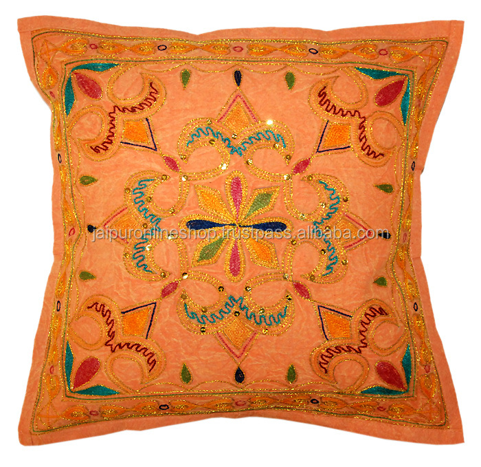 Hand Made Floral Patterned Cushion Cover