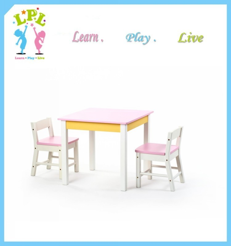 Factory OEM school furniture bentwood technology solid wood chair with kindergarten desk