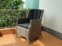 Newest style online shopping poly rattan furniture two seater table and chair set