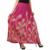 Indina Girls Peacock Feather Print Long Skirt