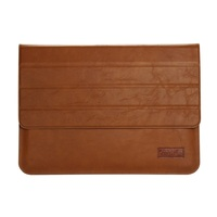 for OATSBASF Genuine Leather Laptop Pouch Cover for MacBook 12-inch with Retina Display - Brown