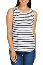 Breezy Slub Tank with curved hem slightly relaxed fit best for Summer season