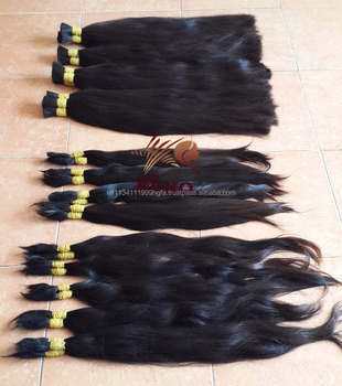 Best seller Single drawn long natural black human hair for extension Cheap price for good quality virgin remy human hair