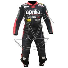 Aprilia motorbike one piece leather suit,leather racing motorbike suit