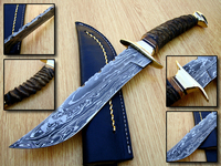 Best Selling 58 Hardness Hand Made 14 Inches Damascus Steel Kukri Hunting Knife Pakistan best Quality