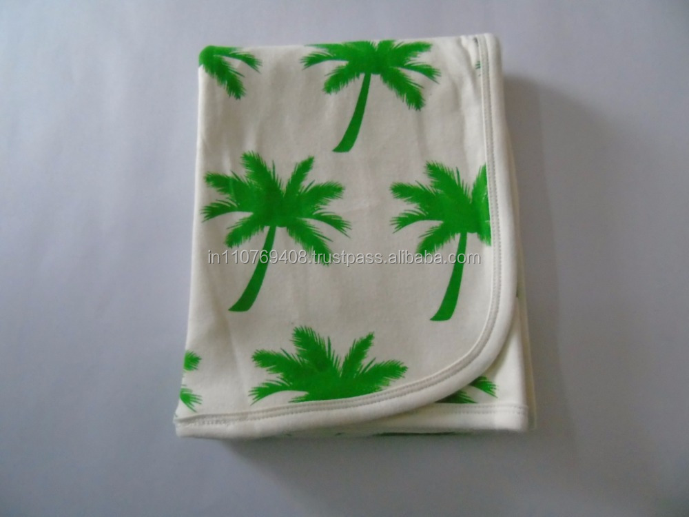 Baby Blanket - Green Tree Print