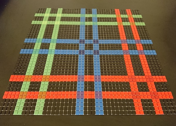 Grid Black High Quality Glass Mosaic