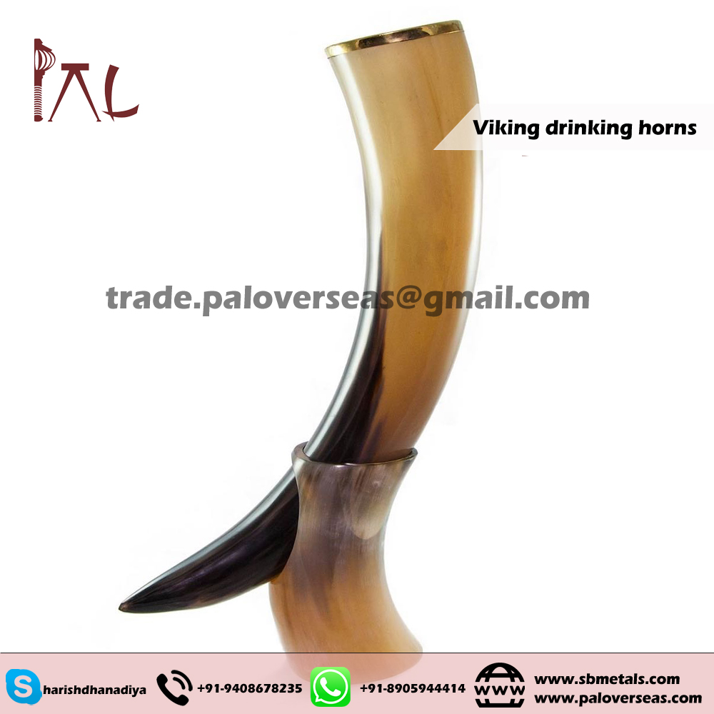 Amazon hot selling Unique Handcrafted Animal horn make Drinking horns