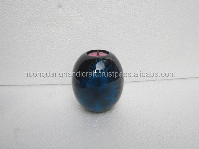 Beautiful Circle Candles Holder - 3 Colors Blue- Red- Gray_Made in VietNam