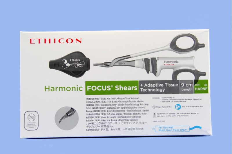 HAR9F: ETHICON HARMONIC FOCUS+ CURVED SHEARS WITH ADAPTIVE TISSUE TECHNOLOGY, 9CM