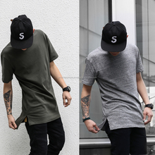 short front and long back fish tail Elongated t shirts - Design big blank tall t shirts