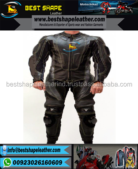 custom motorcycle leather race suit white men Motorcycle Leather Suit