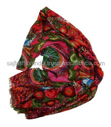 2017 New ladies shawl printed style coral fashion arab style scarf