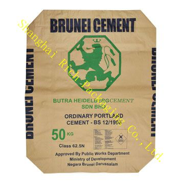 45kg kraft paper bag for cement with valve