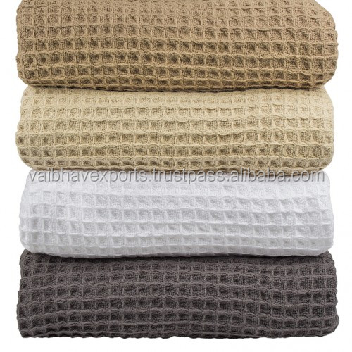 Waffle Weave Hospital Blankets made from super soft cotton