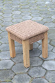 Andorra Side Table - High quality teak and synthetic rattan /water hyacinth