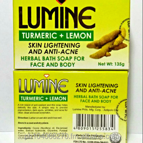 Lumine Premium Turmeric and Lemon Soap 135g Set of 4 (Yellow)