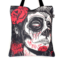Dark Art Tattoo Large Skull Tote Bag