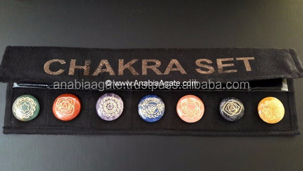 Chakra Symbols Metal Pendants Set - Silver : Seven Chakra Set With New Designs