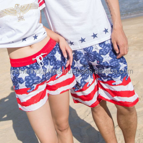 New Boardshorts Swimming Surf Beach Shorts/Men Women Swimwear Trunks/100% Polyester Women Girl Swim Shorts