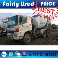 Used Japan Hino Mitsubishi Mobile Forward Concrete Mixer Truck of Cement Mixer Truck