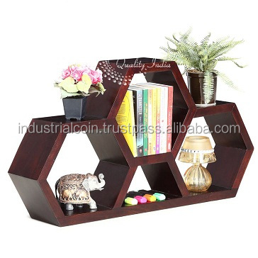 Wooden Three Block Design Display Rack