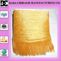 BULLION FRINGE IS PERFECT FOR PILLOWS LAMPSHADES DRAPERIES FURNITURE UPHOLSTERY AND SLIPCOVERS GOLD BULLION WIRE FRINGE