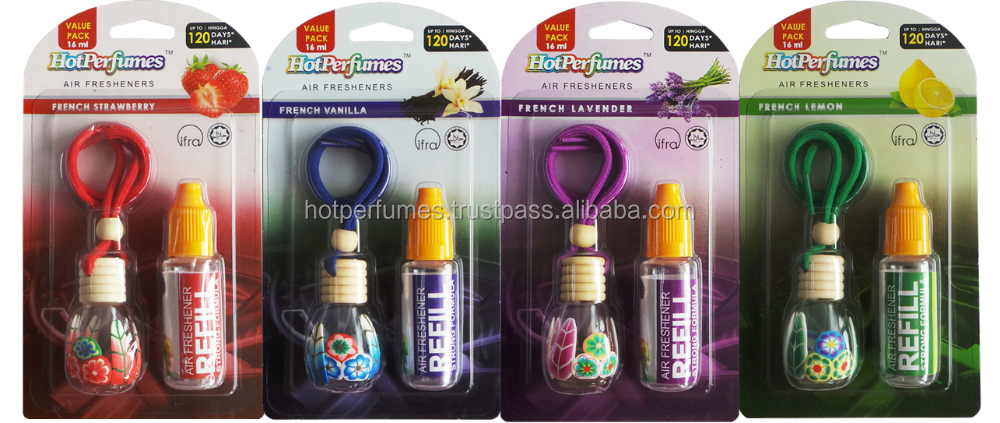 HOT & NEW Malaysia Certified HALAL Hanging Car Flower Air Freshener + Refill, HOT Sale & BEST Seller 2016