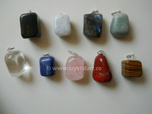 Mix Gemstone Tumbled Stone Pendants