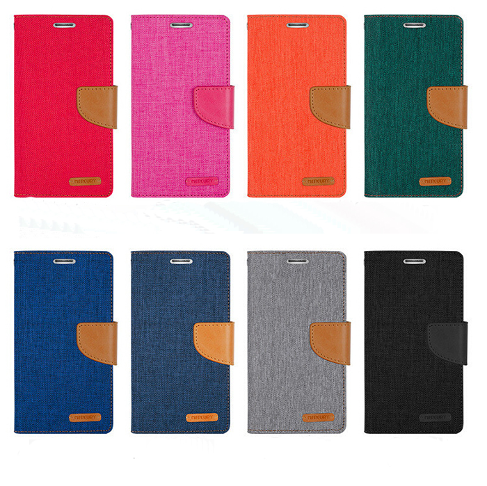 Woven PU Leather Flip Diary Canvas Wallet Leather Phone Case For Iphone 6 6S