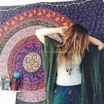 Home Decor wall hanging tapestries Cloth Fabric Ombre Indian Mandala Tapestry