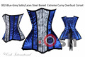 16 Full Steel Boned Heavy Lacing Waist Training Satin Underbust Shaper Corset, Korsett Style # 002 , COSH INTERNATIONAL