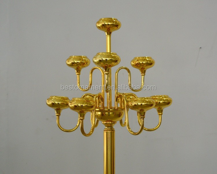 Weddings cheap wholesale antique gold metal candelabras