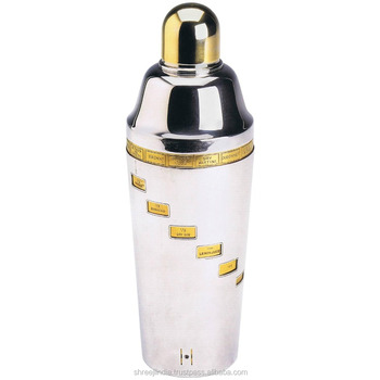 Stainless steel colored Recipe shaker