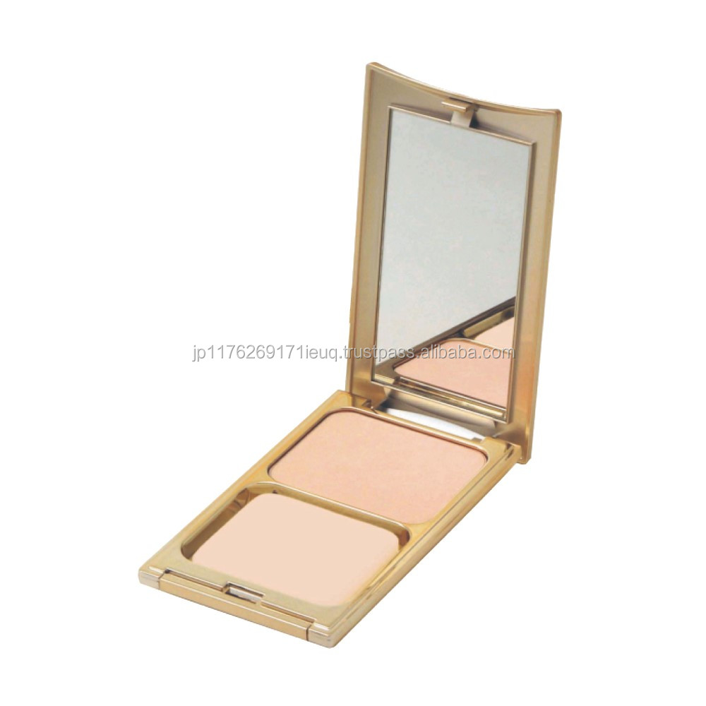 Sweat resistant semi-creamy type compact foundation makeup case with no stickiness