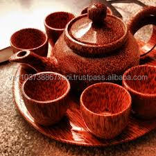 100% natural coconut tea sets- high quality for good health