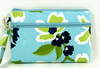 Dogwood phone case wristlet, teal cell phone purse, makeup bag, cell phone holder, cosmetic pouch