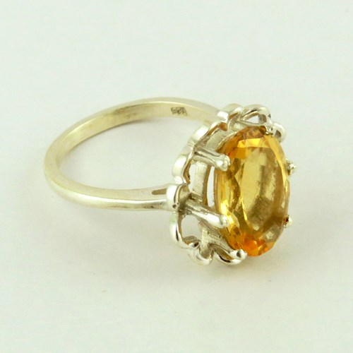 Floral Design !! Citrine 925 Sterling Silver Ring, Silver Jewelry 925, Online Silver Ring