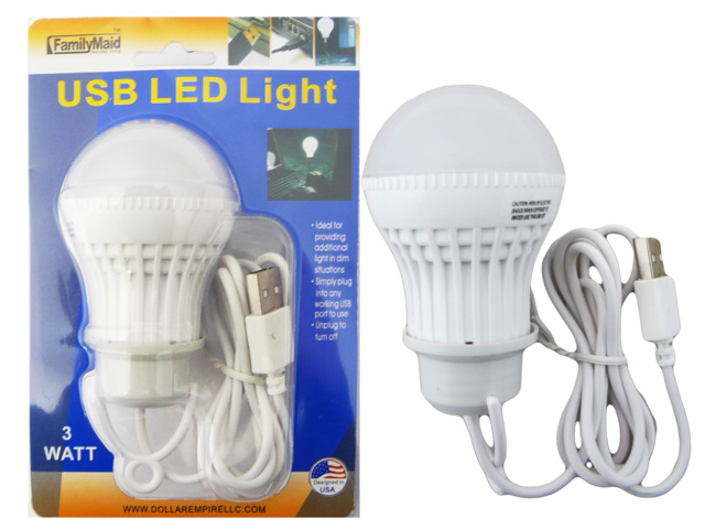 USB LED LIGHT BULB 3W, #33621C