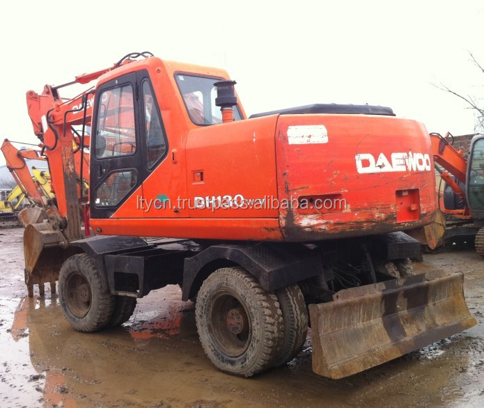 13T WHEEL EXCAVATOR DOOSAN DAEWOO USED MINI WHEEL EXCAVATOR 130-5 13TON FOR SALE CHINA