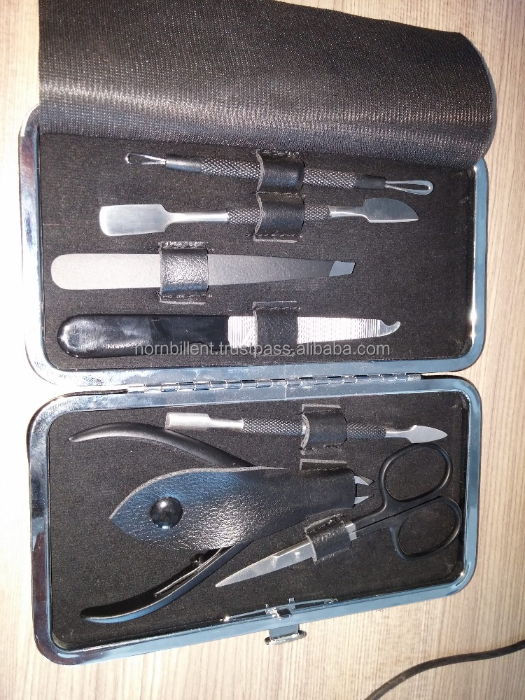 Manicure set with colourfull Metal Case