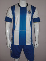 Custom Soccer Uniform For Wholesale Blue And White color Football Uniform