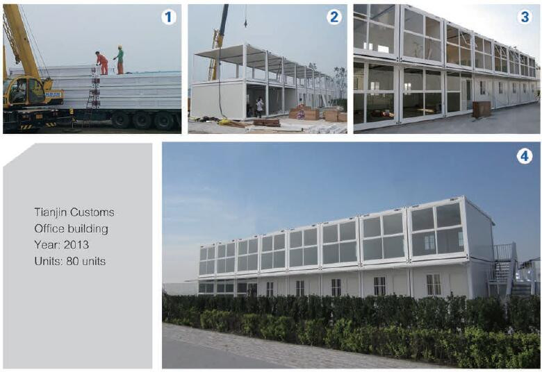 steel house prefabricated for model building